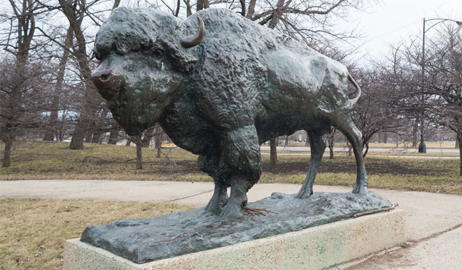 Bison Statues