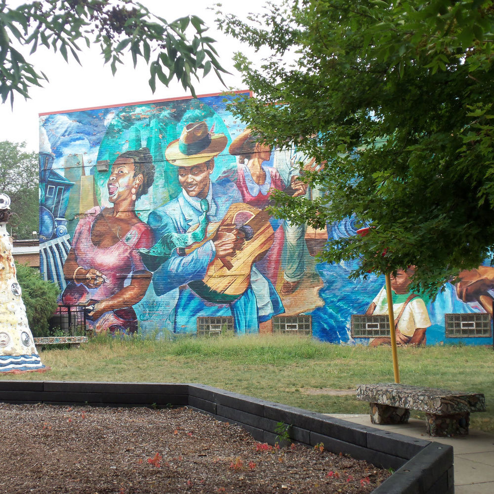 Community Art Garden at the Elliott Donnelley Youth Center