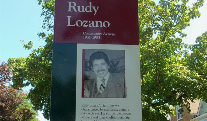 Rudy Lozano Tribute Marker